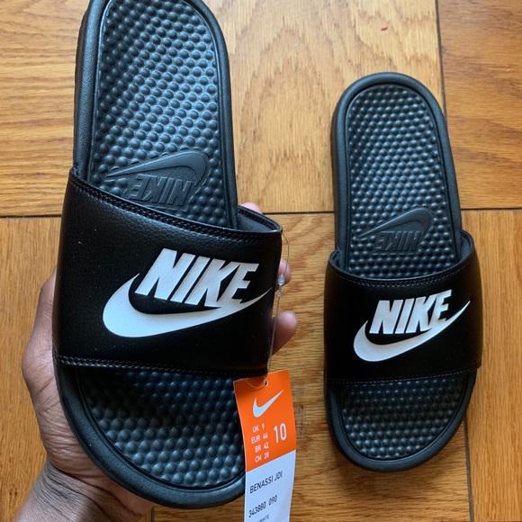 Men's Nike Benassi Slides Black Size 10 Boutique